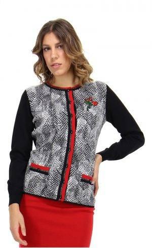 Coreana in lana e jacquard